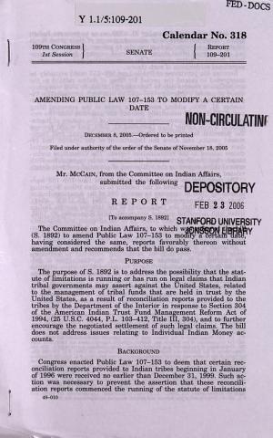 Amending Public Law 107-153 to Modify a Certain Date