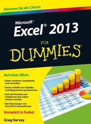Excel 2013 f  r Dummies PDF