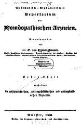 Systematisch-alphabetisches Repertorium der Homöopathischen Arzneien: Band 1