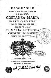 Ragguaglio delle virtuose azioni di donna Costanza Maria Mattei Caffarelli duchessa d'Asergio ... [G. Mariano Partenio]