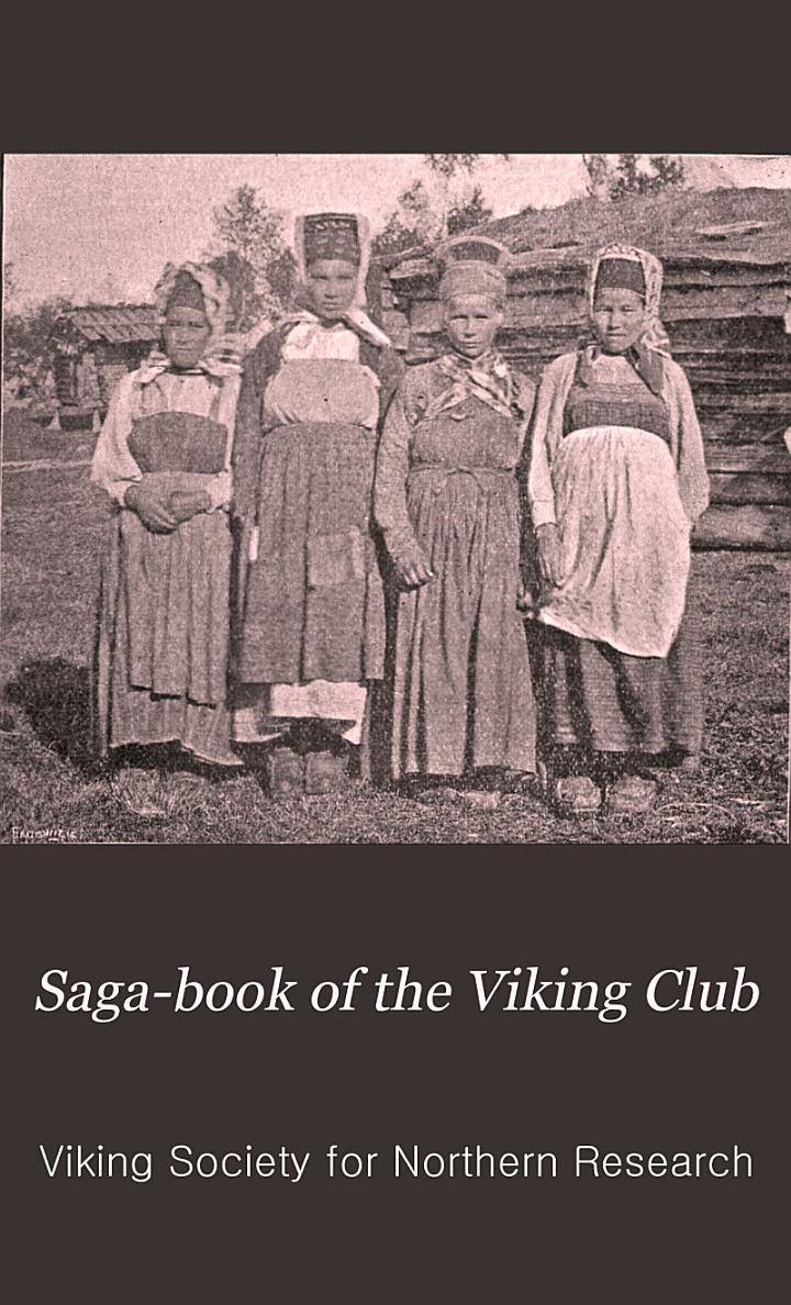 Saga-book of the Viking Club