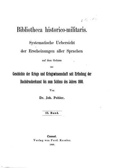 Bibliotheca Historico Militaris PDF