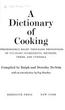 A Dictionary of Cooking PDF