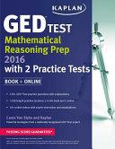 Kaplan GED   Test Mathematical Reasoning Prep 2016 Book