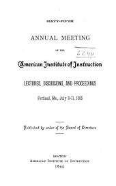 Annual Meeting: Volume 65