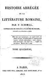 Histoire abrégée de la littérature romaine: Volume4