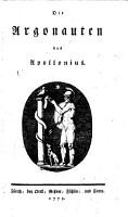 Die Argonauten    bersetzt von Johann Jakob Bodmer   PDF
