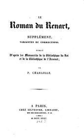 Le Roman du Renart: Supplément : variantes et corrections, Volume5