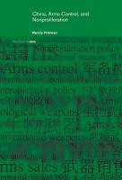 China  Arms Control  and Non Proliferation PDF