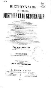 Dictionnaire universel d'histoire et de géographie: A-HYTH (VIII p., 1-864 p.)