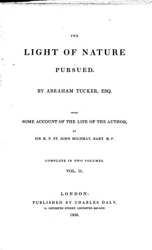 The Light of Nature Pursued