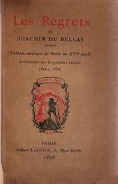 Les regrets de Joachim du Bellay, Angevin: collationné sur la première édition (Paris 1558)