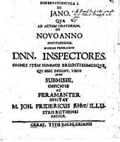 De Jano dissertatiuncula 1 - 5
