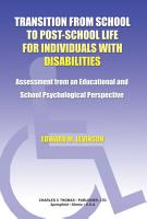 Transition from School to Post school Life for Individuals with Disabilities PDF