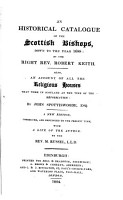 A historical catalogue of the Scottish bishops down to the year 1688 PDF