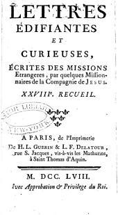 Lettres édifiantes et curieuses: écrites des missions étrangères, Numéro28