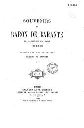 Souvenirs du baron de Barante ... 1782-1866: Volume8