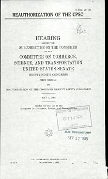 Reauthorization of the CPSC PDF