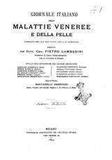 Giornale italiano delle malattie veneree e della pelle PDF