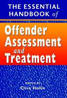 The Essential Handbook of Offender Assessment and Treatment PDF