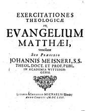 Exercitationes theologicae in Evangelium Matthaei