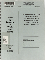 Occupational Health and Safety Management Systems in the United Kingdom and Ontario  Canada PDF