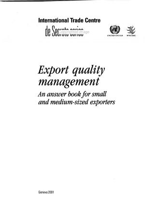 Export Quality Management