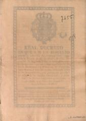Real decreto en que S. M. ha resuelto ampliar la concesion del comercio libre, contenida en Decreto de 16 de octubre de 1765: instruccion de la misma fecha, y demás resoluciones posteriores, que solo comprehendieron las islas de Barlovento, y provincias de Campeche, Santa Marta, y Rio del Hacha, incluiendo ahora la de Buenos Aires, con internacion por ella à las demás de la América Meridional, y extension a los puertos habilitados en las costas de Chile, y el Perú &C. expedido en 2 de febrero de 1778