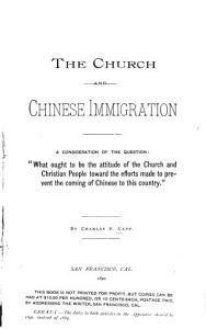 The Church and Chinese Immigration PDF