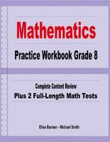 Mathematics Practice Workbook Grade 8 PDF