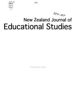 New Zealand Journal of Educational Studies PDF