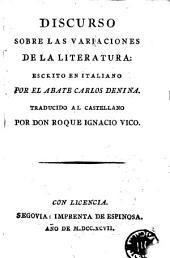 Discurso sobre las variaciones de la literatura