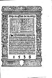Hip. de Mar. de ra. virg. Solennia [et] pene diuina commentaria ... do. Hippolyti de Marsiliis ... Vna cu[m] summariis [et] rep[er]torio nouissime editis ...