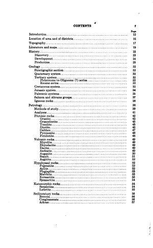 Petrology and Mineral Resources of Jackson and Josephine Counties, Oregon