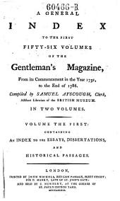 A General Index to the Gentleman's Magazine