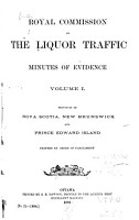 Report  with Minutes of Evidence  of the Royal Commission on the Liquor Traffic in Canada PDF