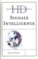 Historical Dictionary of Signals Intelligence PDF