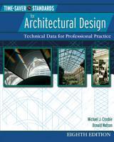 Time Saver Standards for Architectural Design 8 E  EBOOK  PDF