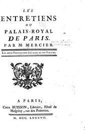 Les entretiens du palais-royal de Paris