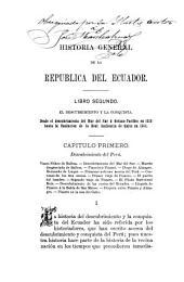 Historia general de la República del Ecuador: El descubrimiento y la conquista (1513-1564) 1891