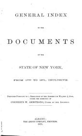General Index to the Documents of the State of New York