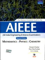 The Pearson Complete Guide For Aieee 2 e PDF