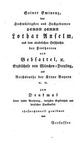 Lebens- und Regierungs - geschichte des Churfürsten von Bayern Karl Albert nachmaligen Kaisers Karl VII.