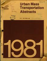 Urban Mass Transportation Abstracts PDF