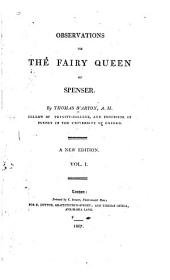Observations on the Fairy Queen of Spenser: Volume 1