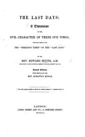 "The Last Days ... By the Rev. Edward Irving, etc. A review, extracted from the ""Christian Observer."""