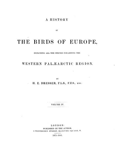 Download A History of the Birds of Europe Book