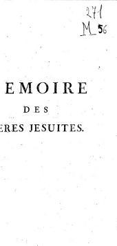 Memoire des peres jesuites