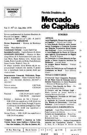 Revista brasileira de mercado de capitais PDF