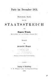 Paris im december 1851: Historische Studie über den Staatsstreich
